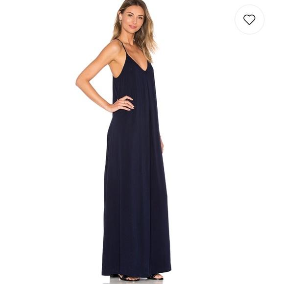 Michael Stars navy slip maxi dress. M 5b451a9aaaa5b89ac38de03d 215f09c07